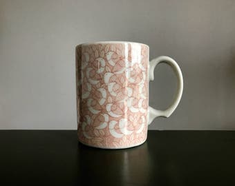 Interlocking Pink Birds in a Tree Coffee Cup