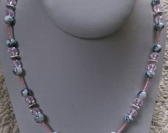 Pink Petals Beaded Necklace