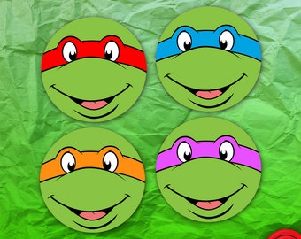 Teenage Mutant Ninja Turtles Face Stickers
