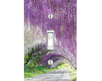 Wisteria Tunnel Light Switch Cover, Floral Flowers, Home Decor, Wall Decor, Lighting-Bedroom Decor, Kitchen Decor, Single light, Double