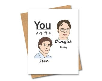 Dwight and Jim Card - Limited Time - Friends