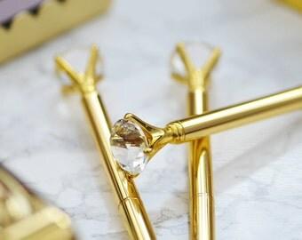 Diamond Pen in Gold