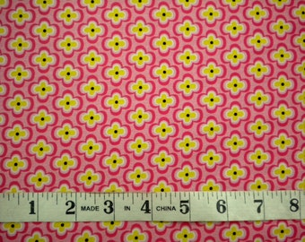 1 YD - My Lil' Lady Fabric (Pink Floral) by Exclusively Quilters