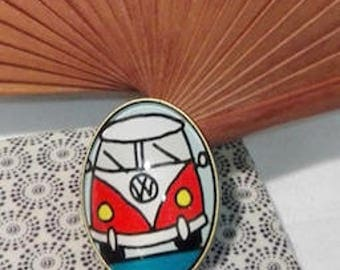 Brooch cult car VW Bulli