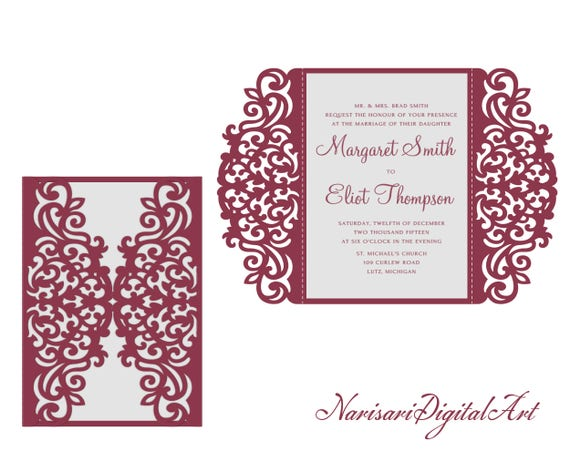 5x7 svg dxf cdr gate fold wedding invitation card 5x7 svg dxf cdr gate fold wedding invitation card laser cut template quinceanera vector file pattern silhouette cameo cricut stopboris