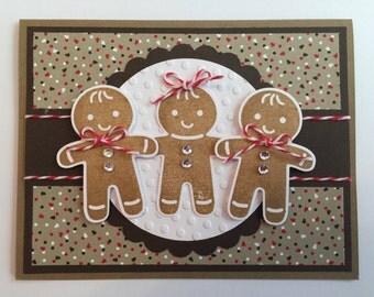"Handmade ""Gingerbread"" Card, Christmas, Gingerbread"