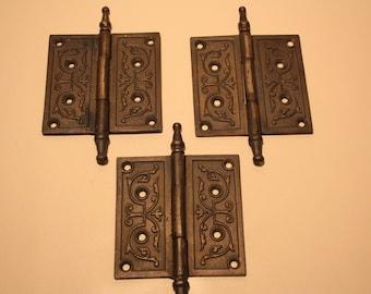 Vintage Cast Iron Hinges