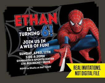 Spiderman Invitation - Spiderman Birthday Invitation