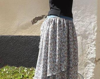 Long skirt nymph lacing back elven fairy Sanlivine