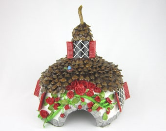 one-of-a-kind Fairy House or Toad House