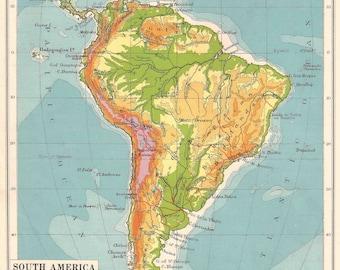 Argentina Retro Etsy - Argentina map vintage