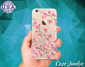 Pink Cherry Blossom Tree Branches Japanese Art Tumblr iPhone 5 iPhone 5C iPhone 6 iPhone 6s iPhone 6s Plus and iPhone SE iPhone 7 Clear Case