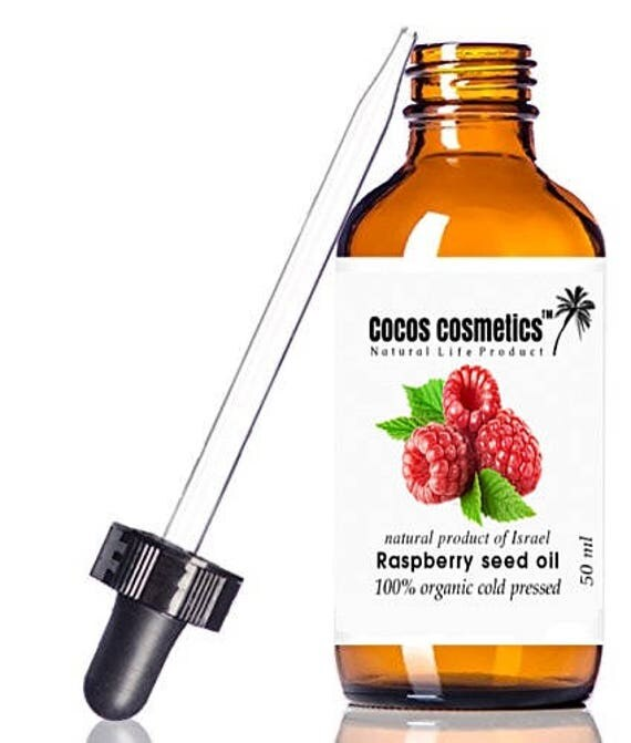 Red Raspberry seed oil - Pure unrefined cold pressed raspberry seed oil, nature sun screen Spf 50