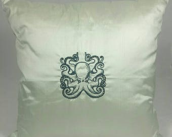 """Octopus Cushion Cover. Fits an 18"""" x 18"""" insert. Decorative Pillow fit for a Pirate."""