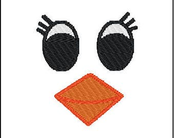 Chick Face Embroidery Design