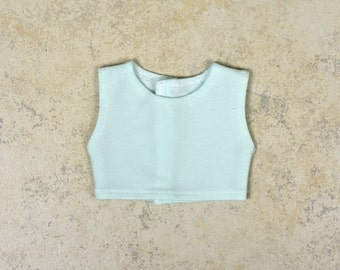 Cropped top 18 inch doll clothes Color Icy Blue