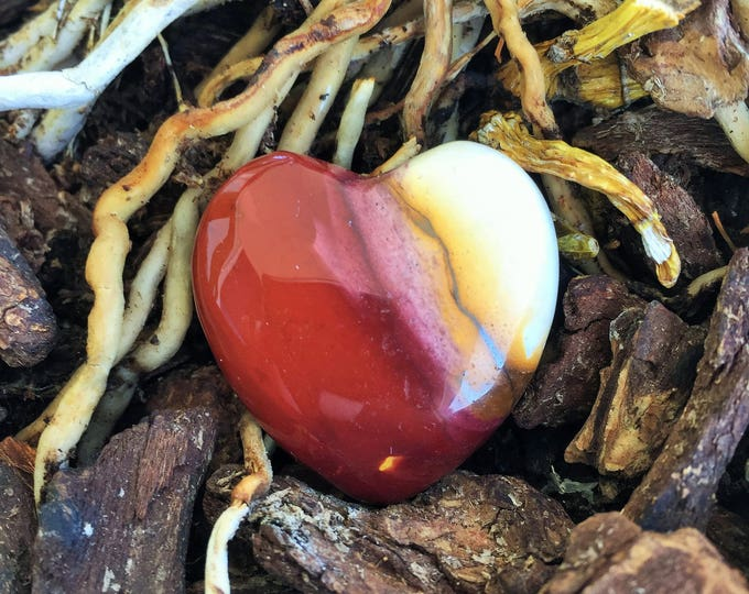 Red  Mookaite Jasper Heart Crystal, Healing Crystals and Stones
