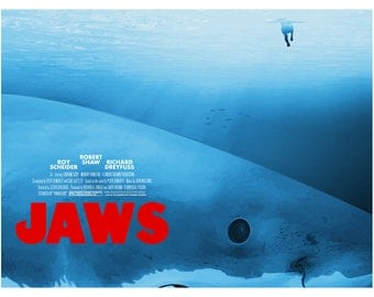 Jaws Poster Giclee Print - Steven Spielberg