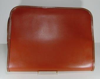 Vintage Fanco Brown Leather Portfolio, Briefcase, 1960's