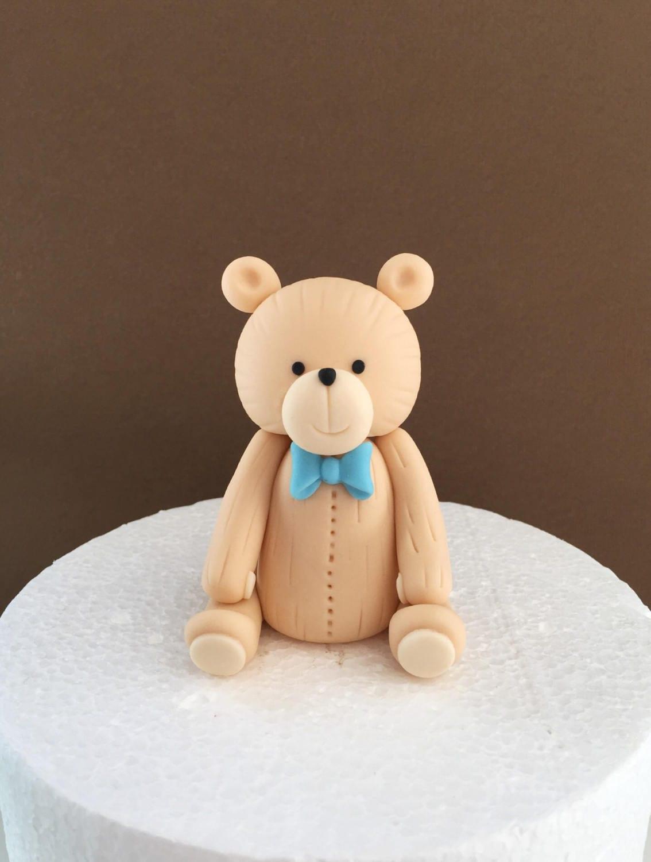 Fondant teddy bear cake topper. Fondant bear cake topper ...