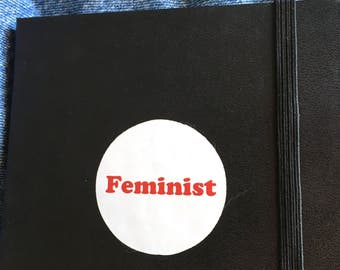 Red Feminist Vinyl Sticker -  Cute Feminist Sticker - Girl Power - Feminism - Laptop Sticker - Multi Purpose Sticker - Vinyl Decal Sticker