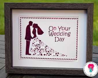 3D wedding svg / dxf / eps / files and pdf / png printable templates for hand cutting. Digital download. Small commercial use ok.
