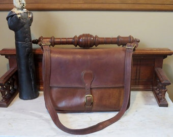 Spring Sale Coach Mocha Letter Brief - Briefcase - Leatherware Logo Made in New York City, U.S.A. - Very Rare