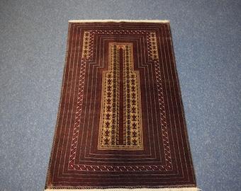 Vintage Afghan Kawdani prayer rug