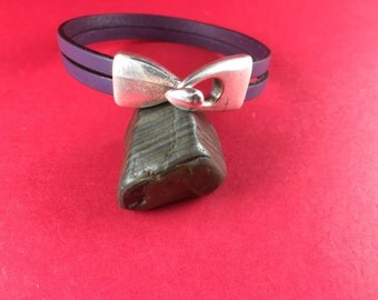5/2 MADE in EUROPE Flat leather cord clasp, hook clasp, plain leather clasp, made in Greece, zamak closure (x5844as)QTY1
