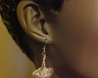 Earrings, silver, gold or silver plated