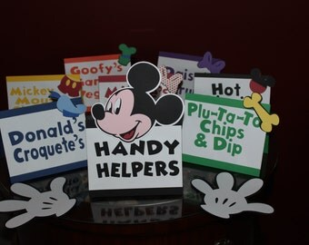 Mickey Mouse Food Labels, Candy Buffet Labels, Mickey Mouse Clubhouse, Micke Mouse Place Cards, Disney Food Labels, Mickey Mouse Name tags