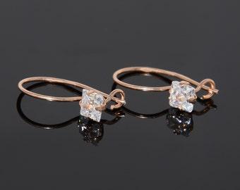 Small earrings, Tiny earrings, Gold earrings, Woman earrings gold, Girls earrings, Children earrings, Cute earrings, Tiny dangle earrings
