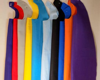 15 Plain felt capes to decorate at your party, many colors, superhero capes
