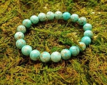 Turquoise Blue Howlite Bracelet*
