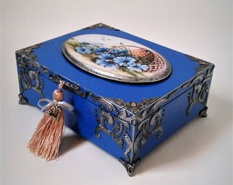 Custom Box. Decorative box. Storage box memory. Box handmade. Wooden box. Unique box. Wood box. Jewelry box. Decoupage ElenShudra. Box. Gift