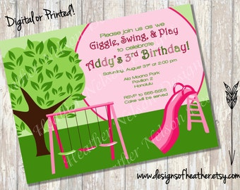 Playground Park Digital Birthday Invitation