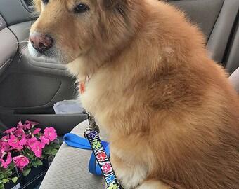 Dog Seatbelt, Seatbelt Tether, Dog  Safety Belt  (Multiple Fabrics Available), Dog Transport
