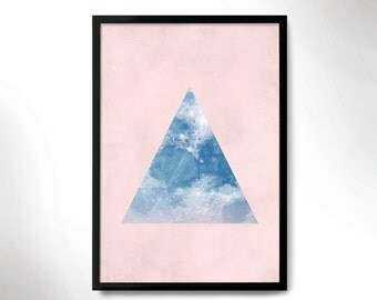 modern style poster, wall decor, space poster, wall frame, moon  print, frame art