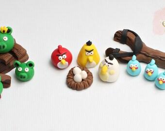 Angry Birds Edible  Cake Topper Set