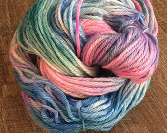 Bejeweled on Superwash Bulky, 100% hand dyed wool, superwash wool