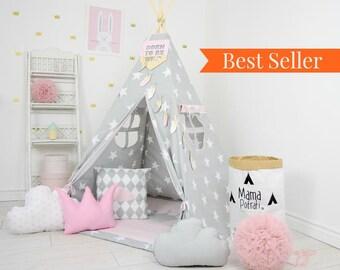 Teepee Tents Kids - Kids Teepee - Play Tent - Teepee tent - Childrens Teepee Play Teepee - Kids Teepee Play Tent