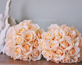Wedding rose bouquet | wedding bouquet | rose flower bouquet | white rose bouquet | silk rose bouquet | rose bridal bouquet
