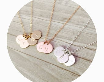 Initial Necklace | Choose Number of Charms | Custom Pendant Necklace | Pendant Necklace | Childrens Initial Necklace | Anniversary Necklace