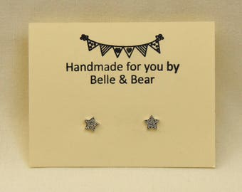 Star Earrings | Star Studs | Silver Star Studs