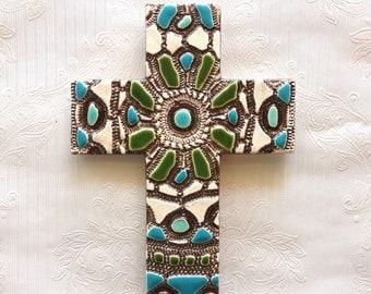 Ceramic Wall Cross
