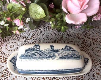 "Carefree True China by Syracuse         ""Old Cathay"" BUTTER DISH with Cover"