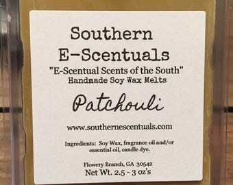 Patchouli Wax Melt, Wax Tarts, Hippy, Earthy, Breakaway Wax Cubes, Wickless Candle, Scented Wax Melts. Gifts under 5, Stocking Stuffers