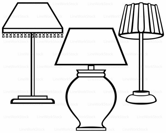 lamp clipart black and white. this is a digital file lamp clipart black and white