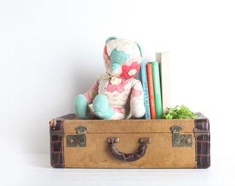 Vintage Large Patchwork Teddy Bear, Nursery Decor