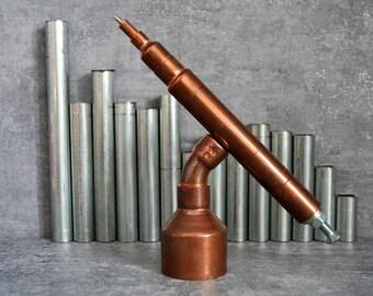 SET 16 copper pen on a holder, souvenir pen, pen for engineer, luxury pen set, customized pen, ball point pen, pen for him, fathers gift